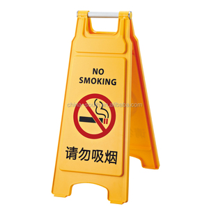 Plastic warning safety sign stand