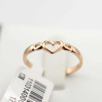 Wholesale Rose Gold Heart Shaped Gold Finger Ring Without Stone