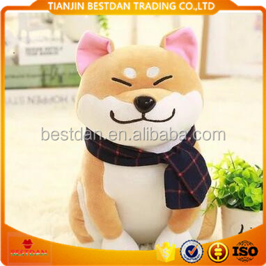 Bestdan 25cm 45cm hot selling OEM custom plush toy dog for home decoration