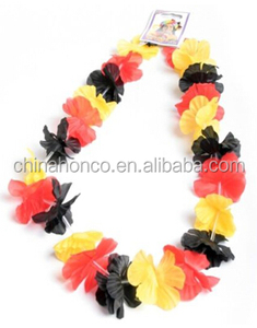 Hot selling football fans hawaii flower lei with great price