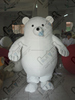 pure white Pacifier nipple bear mascot costumes
