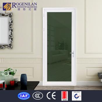 Rogenilan Office Entrance Aluminum Frame Glass One Way Screen Door