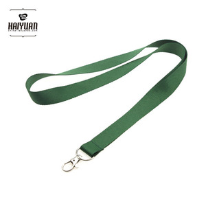 Perfect For Id Badge Holders Features green single layer blank Lanyard/Strap
