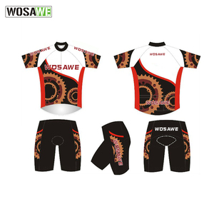 Wosawe sublimation printing Gear cycling clothing set Men's Breathable Cycling for mild cross country Roupa