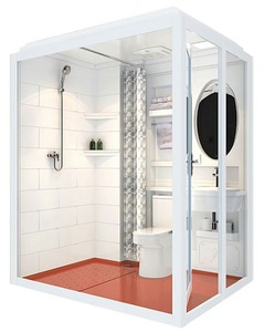 Popular hotel use modular bathroom top selling one unit bathroom pods beautiful shower room