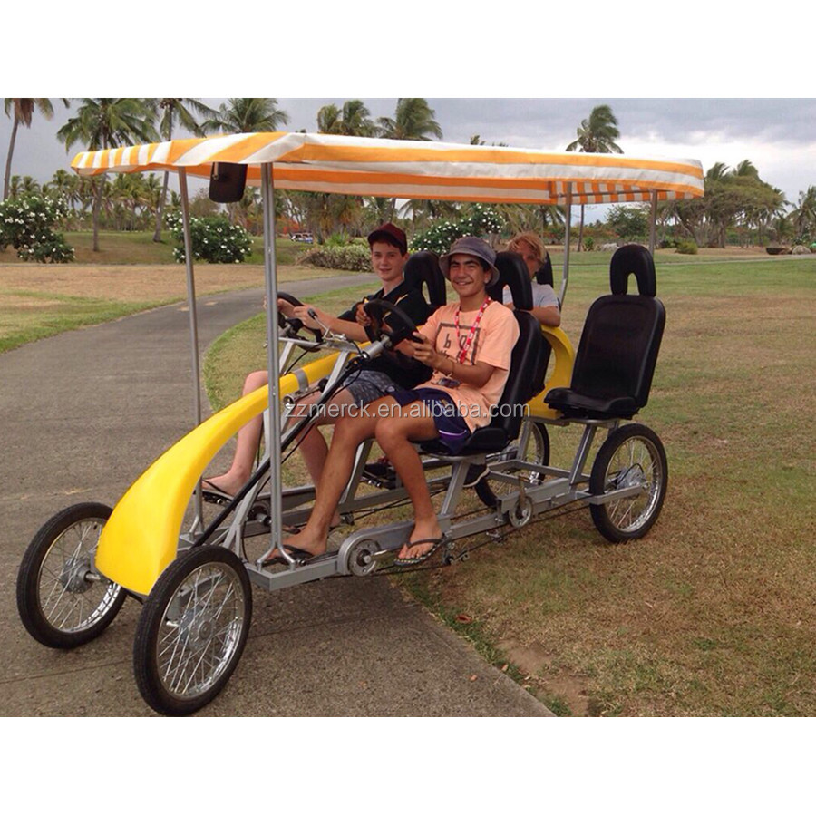 Multi Seaters Surrey Bike 4 Wheel Pedal Carts 4 Person Bikes
