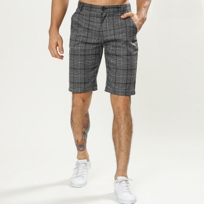 New style high quality plaid bermuda shorts for men