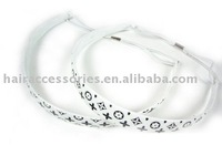 White Plastic Head band