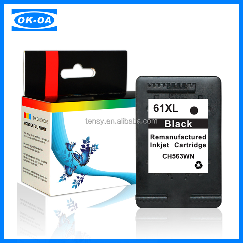 high margin cartridges Inkjet Cartridge refilled for HP 61 XL BK CH563WE for hp ink cartridge refilling clip