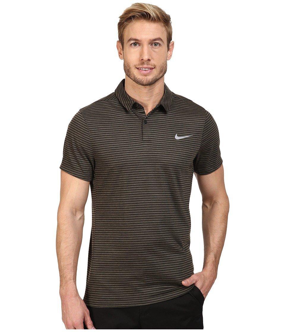 Nike MM Fly Dri-Fit Wool Stripe Polo MEDIUM Cargo Khaki