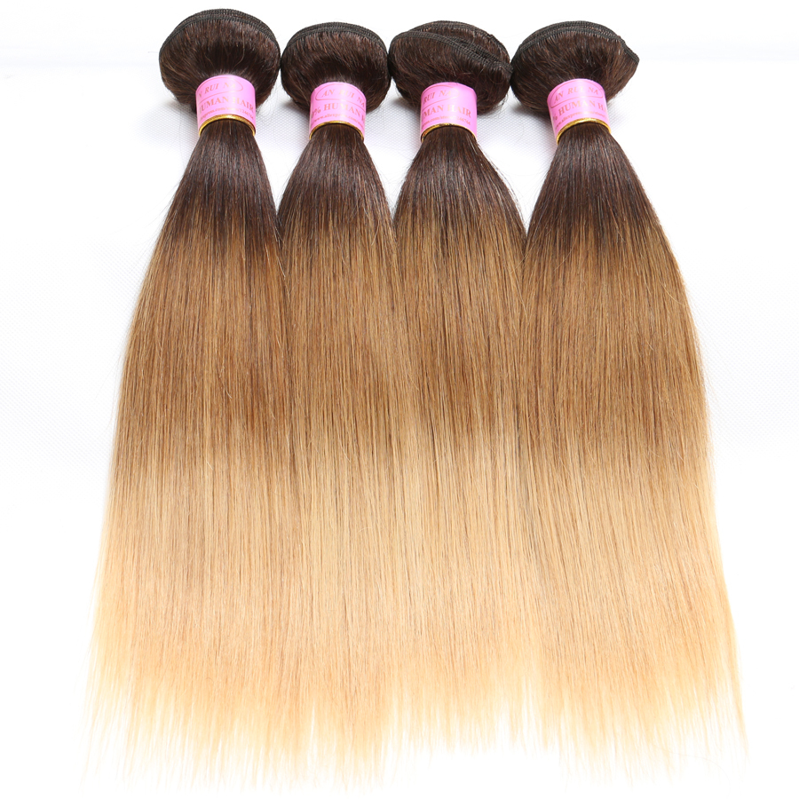 Buy 1b 4 27 Virgin Malaysian Straight Hair 4 Bundles Ombre Three