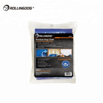 ROLLINGDOG Leak and Slip Resistant Waterproof Nonwoven Paint Protection Drop Cloth