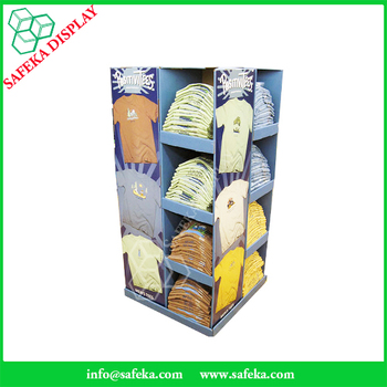 Point of sale shop fittings clothes rack clothing display for Portable t shirt display