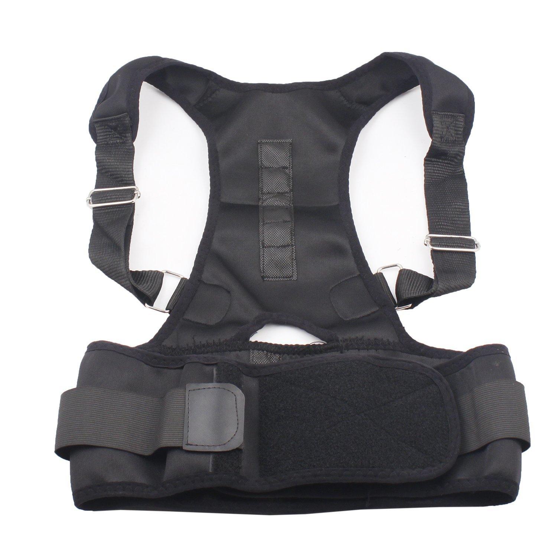 Airkoul Magnetic Posture Support Brace Back Posture Corrector Shoulder Posture Support Strap for Women Men Improve Posture Correction Computer Sitting Work Prevents Slouching (L)