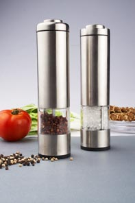 Stainless steel  printing colorful electrical salt and pepper mill