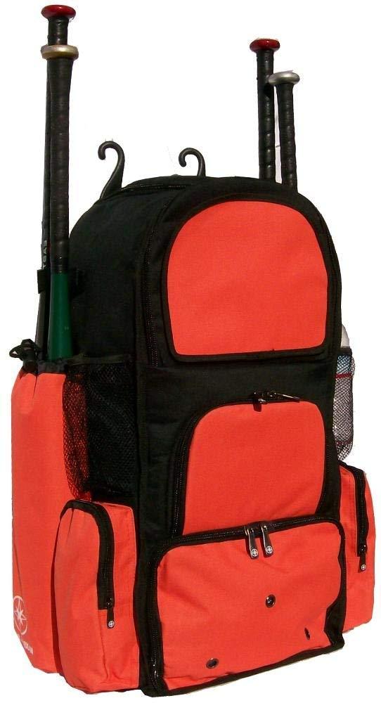 Get Quotations · Black and Orange Chita II (L) Adult Softball Baseball Bat  Equipment Backpack ca92e8a6cc45e