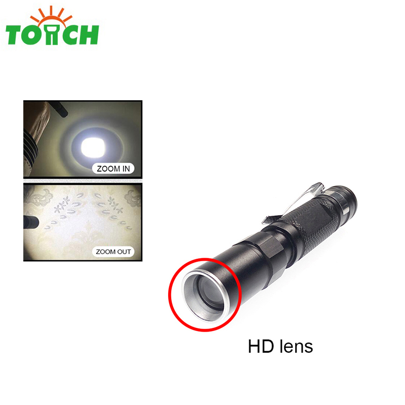 High quality gift promotional led mini doctor pen torch zoomable UV pen with light