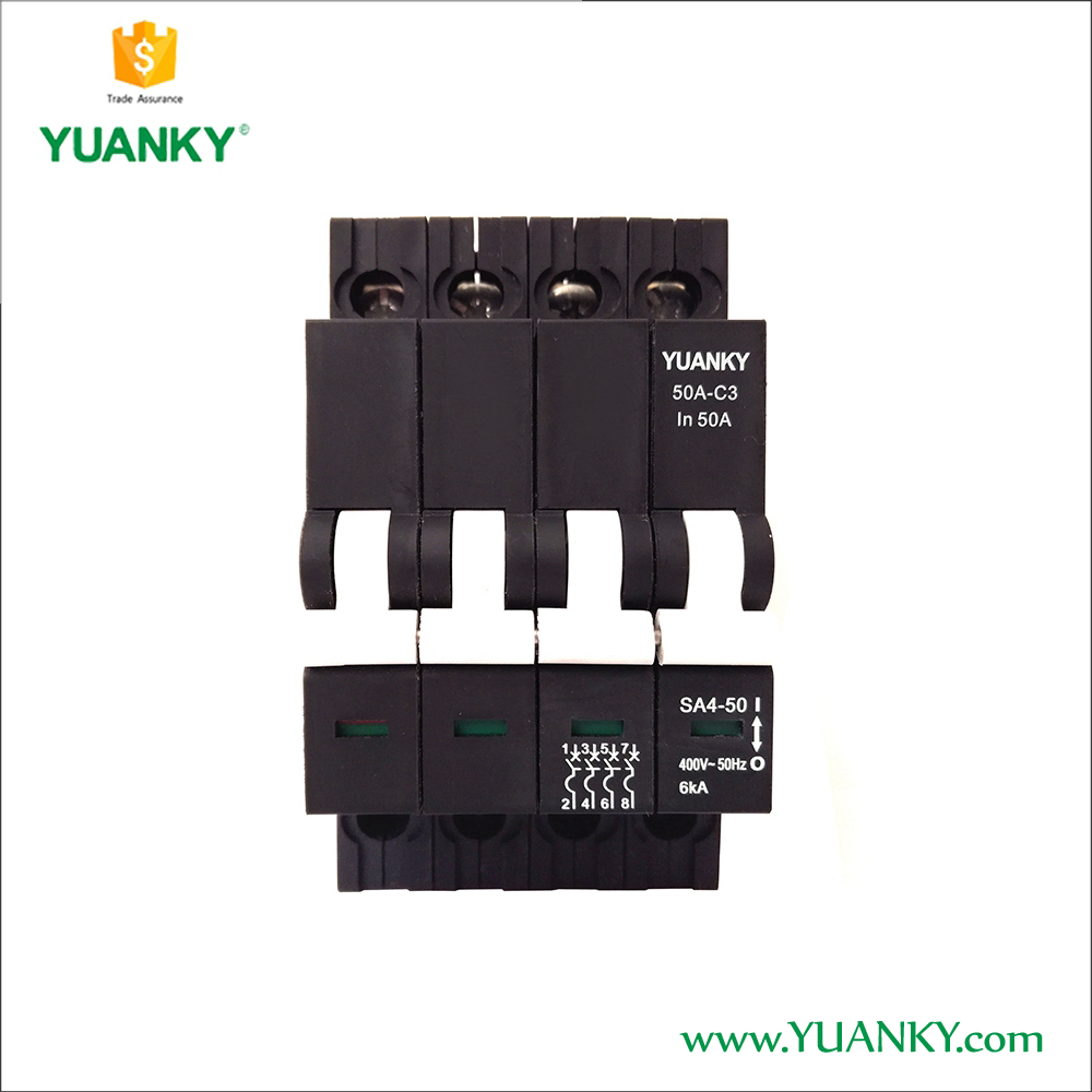 Excellent quality 6KA MCCB 400V AC Modular Magnetic Circuit Breaker 4 pole mcb