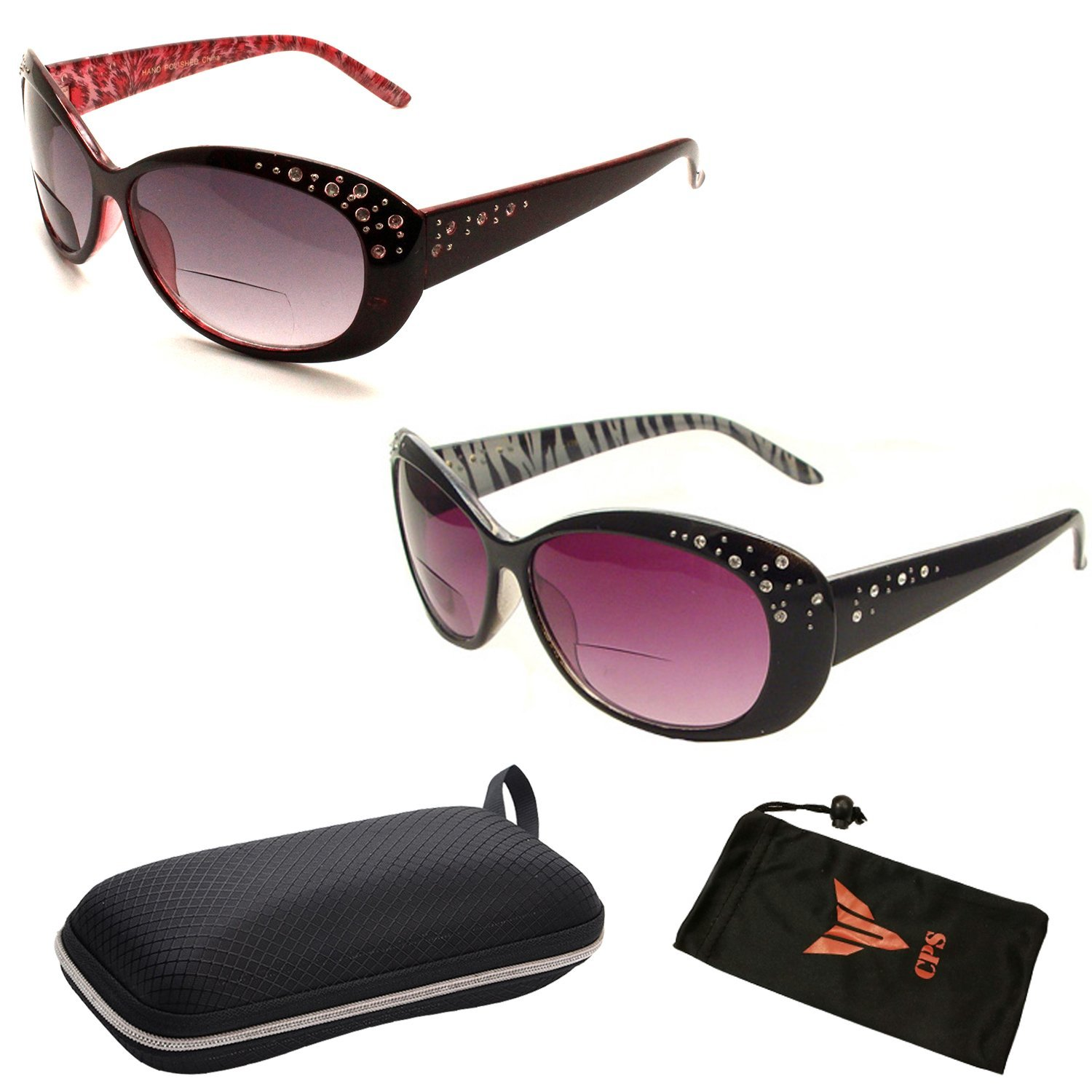 9e99c8d9d93 Get Quotations · Beautiful Women s Rhinestone Bifocal Sun Readers Reading +  Sunglasses All In One (These Are Bifocal