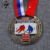 Antique brass soft enamel custom sports hockey challenge medals with ribbon