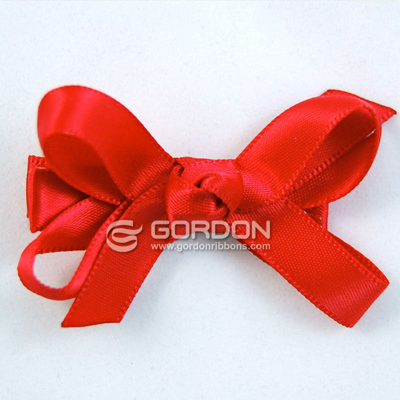 Red Satin Classic Hair Bow,2-1/2 Inch Baby Hair Bows on Pinch Clip