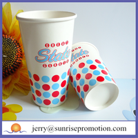 20oz paper custom beverage and coffee cups holder