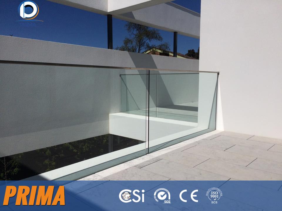 Aluminum U Base Channel/shoe Glass Balustrade/railing Design