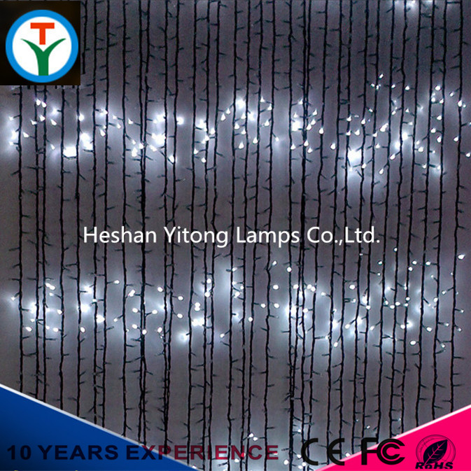Top quality christmas window curtain fairy led string icicle shaped lights