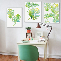 Tropical Plant Art Print Poster Nordic Green Leaf Painting Home Decor Canvas Posters Custom Printing Wall Art