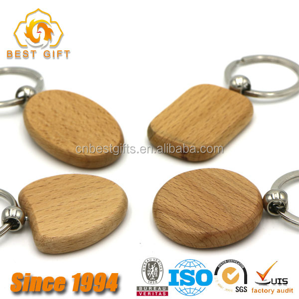 Best Sell Hot Item Hard Wood Blank Key Tags