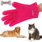 Eco-friendly Product Dog Grooming Brush 2017 Pet Product Wholesale Pet Grooming Glove Dog Cat Bath Brush Silicon Waterproof