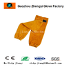 AB grade yellow cow split leather welding sleeve