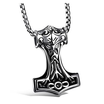Silver Gold Pendant Men Thor S Hammer Viking Amulet Mjolnir Stainless Steel Necklace Buy Stainless Steel Pendant Chain Necklace Stainless Steel