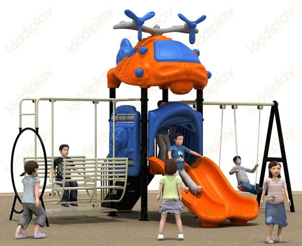 Kinderen outdoor speeltuin kleine slides en swing, kinderen speeltoestellen speelgoed voor kids