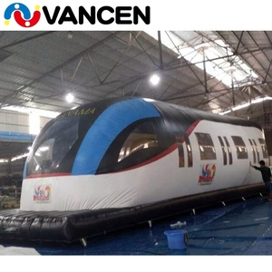 China train design commercial kids party jumping house moonwalk long inflatable train bouncy castle for sale