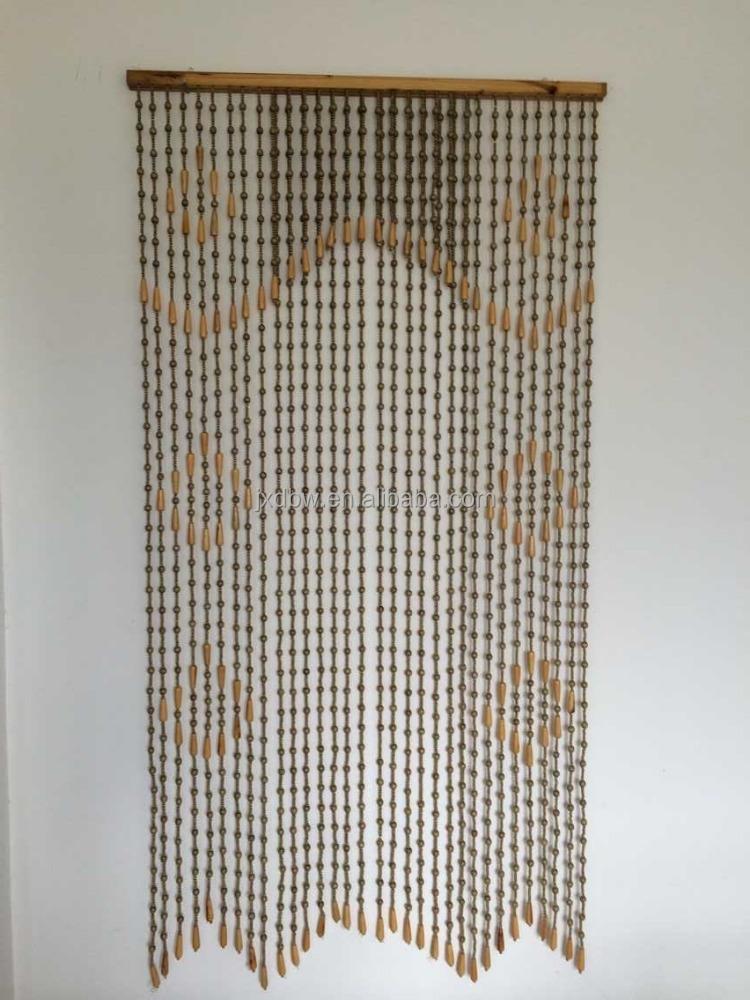 Handmade Wooden Beads Door Curtain, Handmade Wooden Beads Door ...