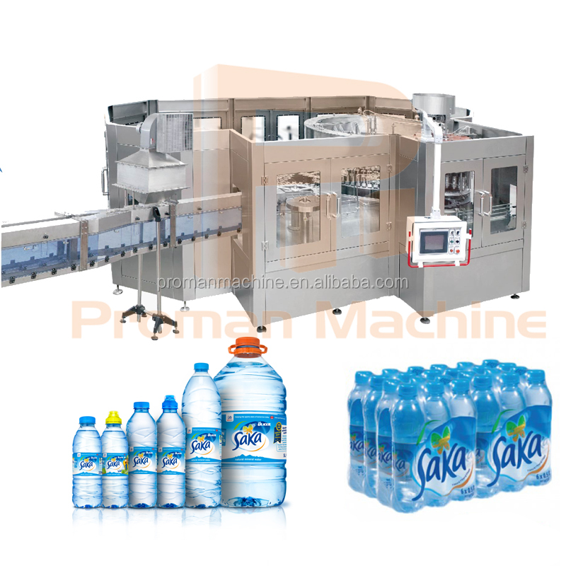 2018 Investment good bottle water project filling production line on sale