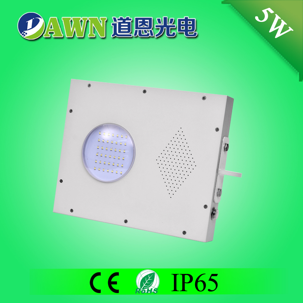 5W Sunpower high quality solar all in one integrated solar led garden lamp solar road sign