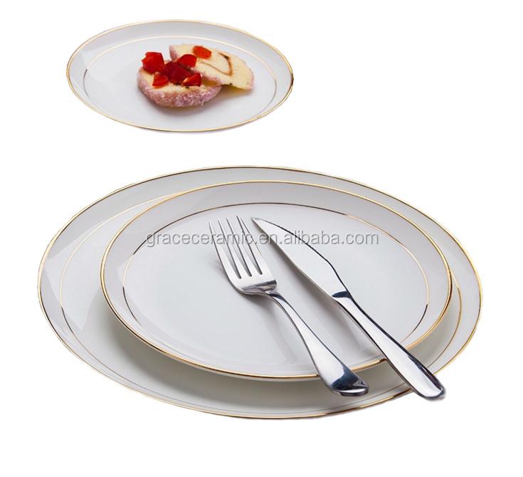 6 8 10 inch Bone china Restaurant Plates Gold rims Round Dinner plate set  sc 1 st  Alibaba & 6 8 10 Inch Bone China Restaurant Plates Gold Rims Round Dinner ...