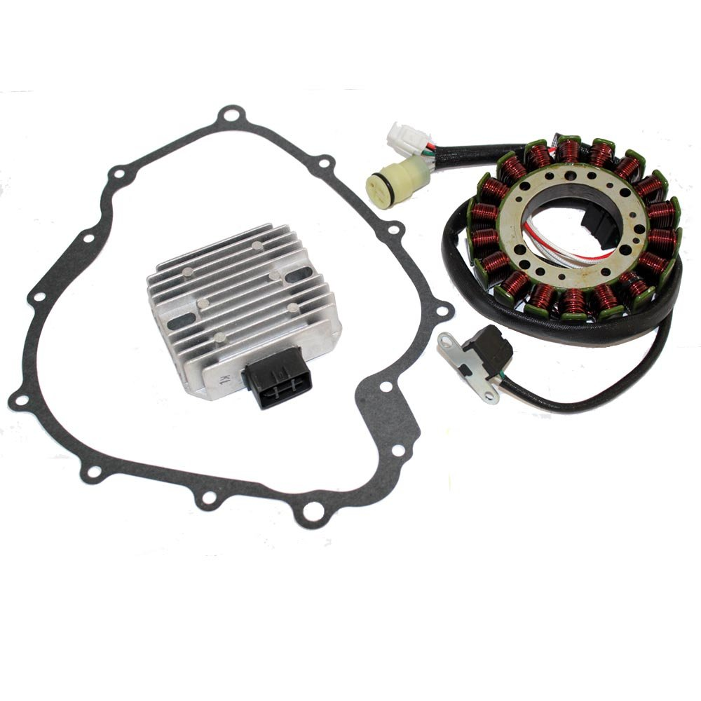 Caltric STATOR & REGULATOR RECTIFIER Fits YAMAHA GRIZZLY 660 YFM660 2002-2008 with GASKET ATV