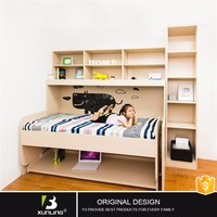 Hidden Twin Size Beds Wooden Single Bed With Drawer