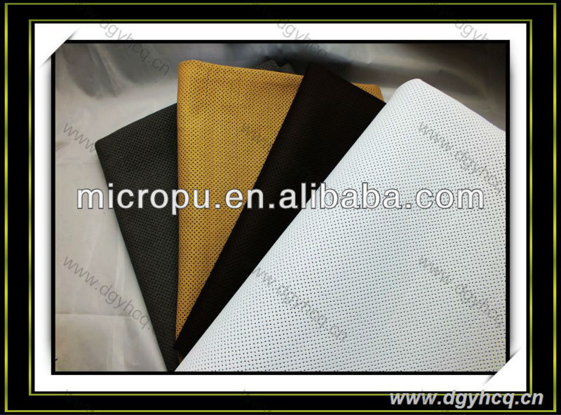 punch hole synthetic microfiber leather