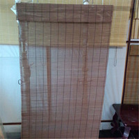 Matchstick bamboo roll-up blind/Intercrown Bamboo Matchstick Natural Woven Shades