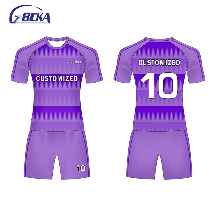Usine prix sublimation impression football américain maillots de football uniforme ensemble 2 chemises