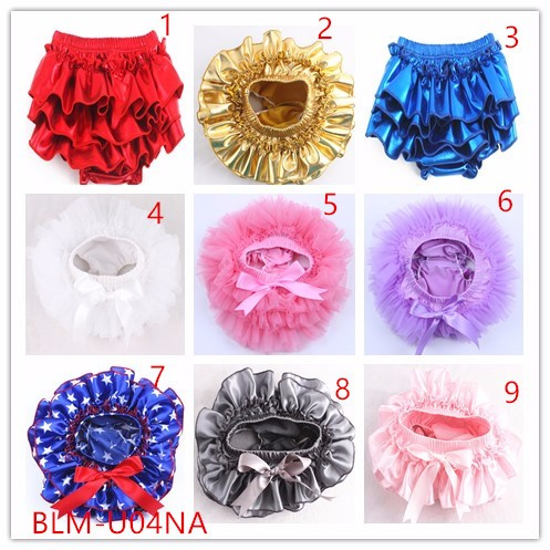 Girl shorts new boutique wholesale bloomer shiny print panties spandex diaper cover sparkle baby boys sequin bloomers wrap set