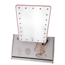 16 &22 LED lighted mirror makeup/Adjustable Touch makeup mirror/desk makeup mirror