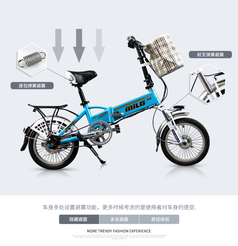 folding e-<strong>bike</strong> hidden battery electric bicycle with basket 2 seat electric <strong>bike</strong>