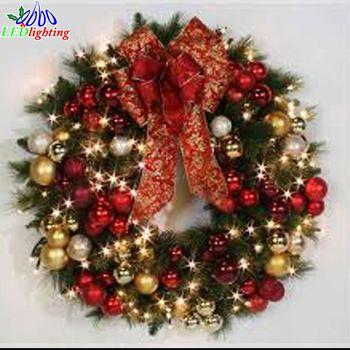 24\' Outdoor Pvc Verlichting Up Kerstkrans - Buy 24\' Outdoor Pvc ...