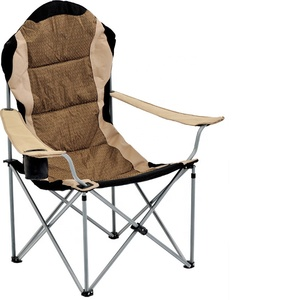 Multifunctional Deluxe Camping Outdoor Chair with Single Cup Side and Litter Caddie