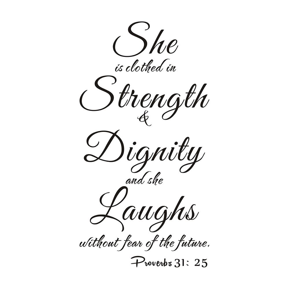 Buy She Is Clothed With Strength Amp Dignity She Laughs Without